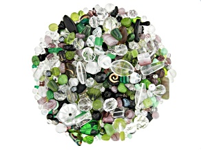 "Czech Glass Beads 1lb Bag Of Assorted Shapes And Sizes in ""Lily Pond"""