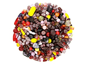 "Czech Glass Beads 1lb Bag Of Assorted Shapes And Sizes in ""Fruit Cocktail"""