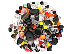 Czech Glass Beads 1lb Bag Of Assorted Shapes And Sizes