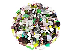 "Czech Glass Beads 1lb Bag Of Assorted Shapes And Sizes in ""Honeysuckle Fields"""