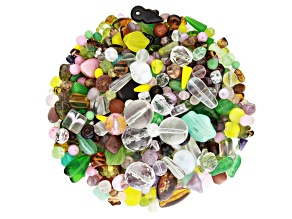 "Czech Glass Beads 1lb Bag Of Assorted Shapes And Sizes in ""Enchanted"""
