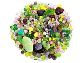 "Czech Glass Beads 1lb Bag Of Assorted Shapes And Sizes in ""Grape Vine"""