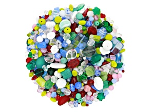 "Czech Glass Beads 1lb Bag Of Assorted Shapes And Sizes in ""Treasure"""