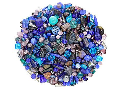 Deep Seas Czech Glass Beads 1lb Bag Of Assorted Shapes And Sizes