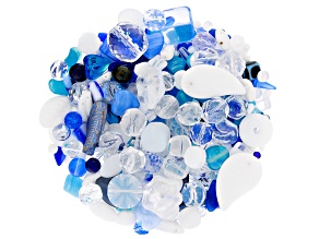 "Czech Glass Beads 1lb Bag Of Assorted Shapes And Sizes in ""Riviera"""