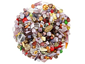"Czech Glass Beads 1lb Bag Of Assorted Shapes And Sizes in ""Mullberry"""