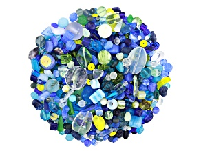 "Czech Glass Beads 1lb Bag Of Assorted Shapes And Sizes in ""Oceanside"""