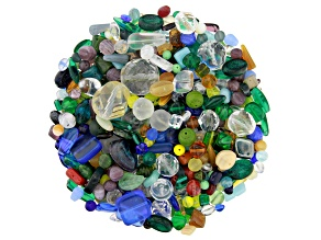 "Czech Glass Beads 1lb Bag Of Assorted Shapes And Sizes in ""Rain Forest"""