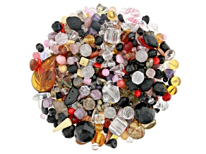 """Czech Glass Beads 1lb Bag Of Assorted Shapes And Sizes in """"Crystal Clear"""""""