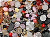 Czech Glass Beads 1lb Bag Of Assorted Shapes And Sizes in