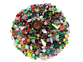 "Czech Glass Beads 1lb Bag Of Assorted Shapes And Sizes in ""Lavender Fields"""