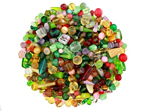 "Czech Glass Beads 1lb Bag Of Assorted Shapes And Sizes in ""Courtyard Garden"""
