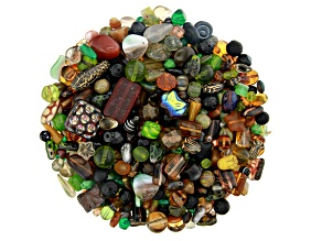 "Czech Glass Beads 1lb Bag Of Assorted Shapes And Sizes in ""Wildwood"""