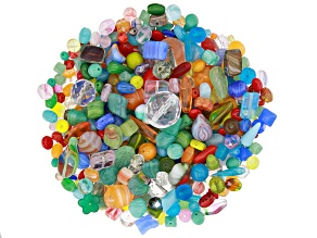 Czech Glass Beads 1/2lb Bag Of Assorted Shapes And Sizes in