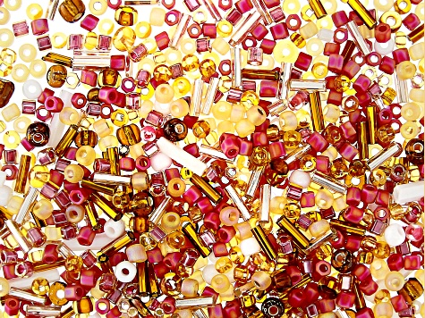 1oz Czech Glass Seed Bead Mix in Assorted Shapes in