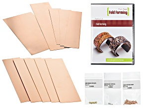 "Fun, Fast ""Fold Forming"" Set Of 3 DVDs By  Eva Sherman And Copper Sheets"