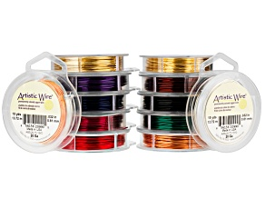 Artistic Wire 12 Spool Assortment Pack 20 Gauge Standard Colors 15 Yards Each Spool