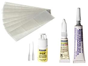 Glue Adhesive Kit incl Bead Stringing Glue, Beadfix Adhesive & Tips, Adhesive Gel & Adhesive Squares