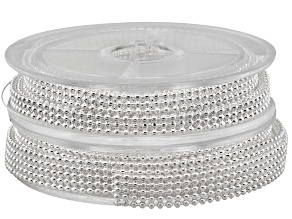 Ball Chain Kit in Silver Tone 1 Spool in 3 Ball Wide And 1 Spool in 5 Ball Wide 1 Meter Each Spool