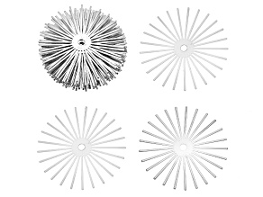 X-Large Silver Tone Starburst Stonesett Kit incl 20 X-Large Findings Great For Larger Beads/Stones