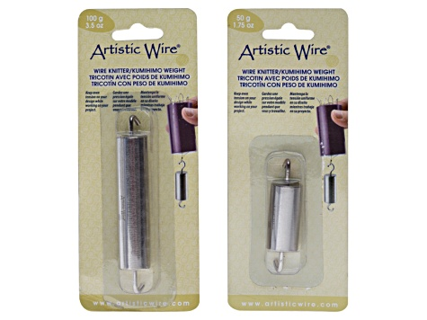 Wire Knitters W/Weights Kit - Wire Knitter 4 Prong & Wire Knitter 6 Prong, 50g & 100g Weights, Awl