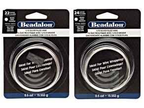Half Hard Round Wire Silver Filled 22 Gauge (.025