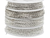 Bulk Value Chain Kit includes Dapped Small Cable, Small Cable, Figaro, & Curb Twist Spools Of Chain