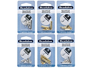 Connectors Variety Kit 1 Set Each 13mm, 20mm, 25.4mm in Gold Color Tone And Silver Color Tone