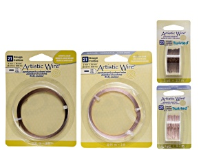 Fashion Flat & Twisted Artistic Wire Kit incl 21 Gauge Flat Wire And 20 Gauge Twisted Round Wire