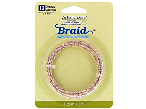 Braided Artistic Wire Kit  10, 12, And 14 Gauge In Rose Tone appx 12.5 Feet Total