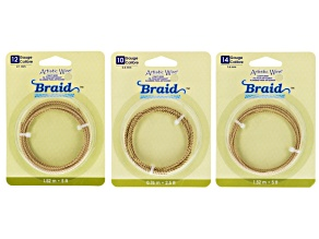 Braid Artistic Wire Kit  10, 12, And 14 Gauge,  Gold Color