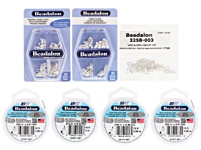 49 Strand Most Flexible Bead Stringing Kit includes Wire, Wire Guardians, Findings, And Crimp Covers