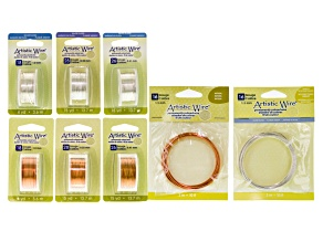 Artistic Wire Tarnish Resistant Silver Over Copper & Natural Copper Kit In 16, 18, 26 & 28G Set of 8