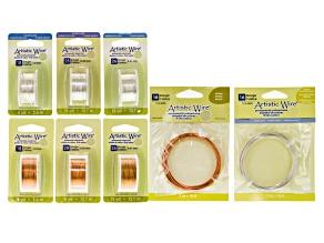 Artistic Wire Dead Soft Tarnish Resistant Silver Over Copper & Natural Copper Kit in 16, 18, 26&28ga