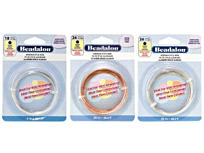 German Style Half-Hard Wire Kit includes 18 And 26 Gauge Silver Over & 26 Gauge Copper Round Wire