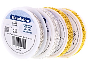 Chain Bulk Kit includes Silver Plated And Gold Tone Small Cable And Dapped Small Cable