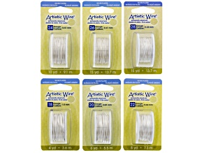Artistic Wire Kit Pearl Silver Color in Six Different Gauge Sizes 18, 20, 22, 24, 26, And 28 Gauges