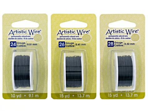 Artistic Wire Kit Iron Color in Six Different Gauge Sizes 18, 20, 22, 24,  26, And 28 Gauges
