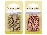 5 Spools Of Asst Color 14g 8-Braid Square Wire & 105 Pcs Total 12g Crimp Tubes