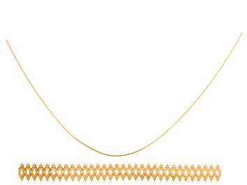 """Picture of Double Oval 14k Gold Gallery Wire 3.0 inches, One 5"""" 24ga 14k Gold Half Hard Round Wire"""