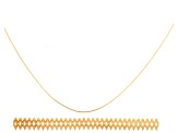 Double Oval 14k Gold Gallery Wire 3.0 inches, One 5