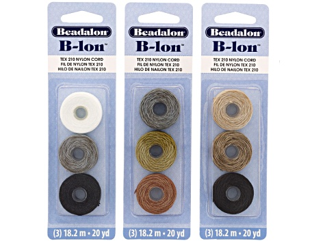 Tying Station Macrame Kit With 3qty Assorted Color 3pc B-Lons & 12pc Button Assortment