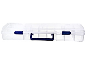 Bead Box With 12 Moveable Dividers & 1 Moveable Tray, Measures 19.5x5.5x3.63