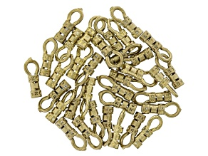 Loop-End Crimp Findings 34 pieces appx 1.5mm Raw Brass appx 9mm in length