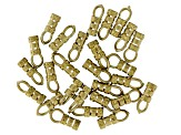 Loop-End Crimp Findings 27pcs appx 2mm Raw Brass appx 10mm in length