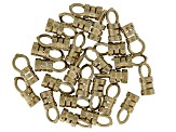 Loop-End Crimp Findings 27 pieces appx 3mm Raw Brass appx 10mm in length