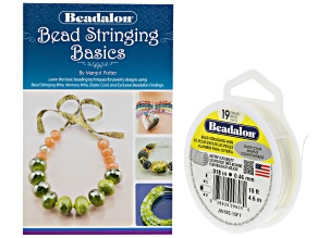 Bead Stringing Basics Kit incl Bead Stringing Wire And Bead Stinging Basics Book By Margot Potter