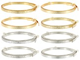 Artistic Wire 5mm Flat Patterned Wire In Gold Tone & Silver Tone 4 Styles Each