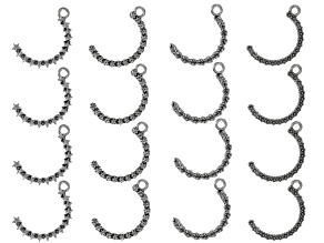 Revolving Pendants in Silver Tone Set Of 16 Pieces in 4 Styles