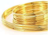 Extra Heavy Duty Memory Wire Necklace And Bracelet Kit In Gold Tone 100 Grams Total